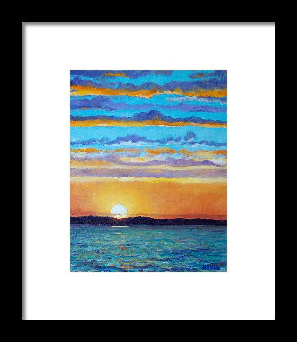 Sunset Framed Print featuring the painting Bay Sunset by Robert Henne