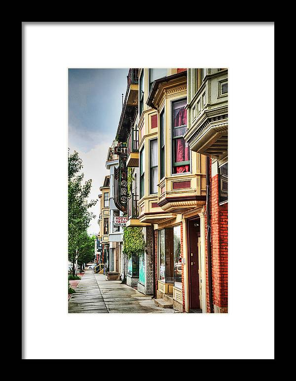 Building Framed Print featuring the photograph Bay Windows by Al Perry