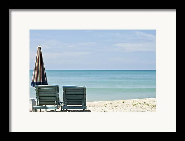 Azure Framed Print featuring the photograph Beach Life by Georgia Fowler