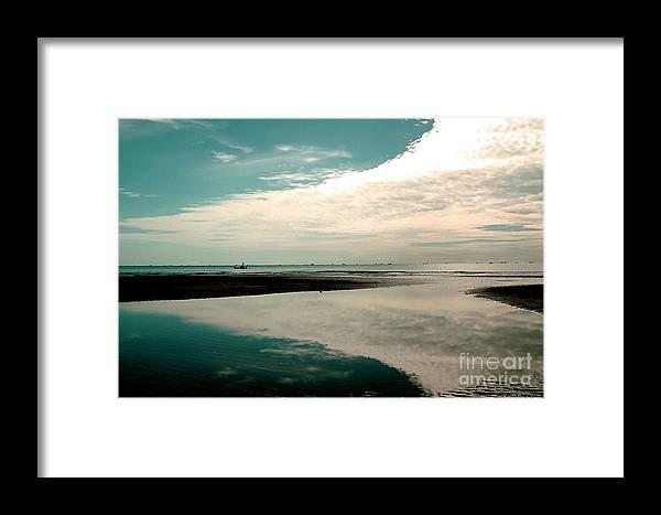 Beach Framed Print featuring the photograph Beach Reflection by Dania Photo
