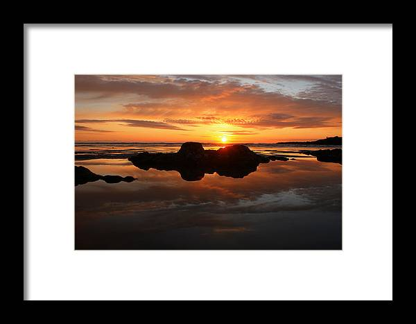 Beach Framed Print featuring the photograph Beach Reflections by Kami McKeon
