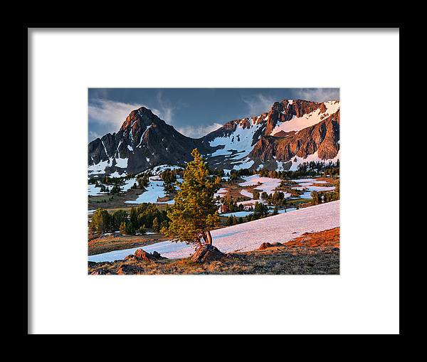 Altitude Framed Print featuring the photograph Beartooth Sunrise Light by Leland D Howard