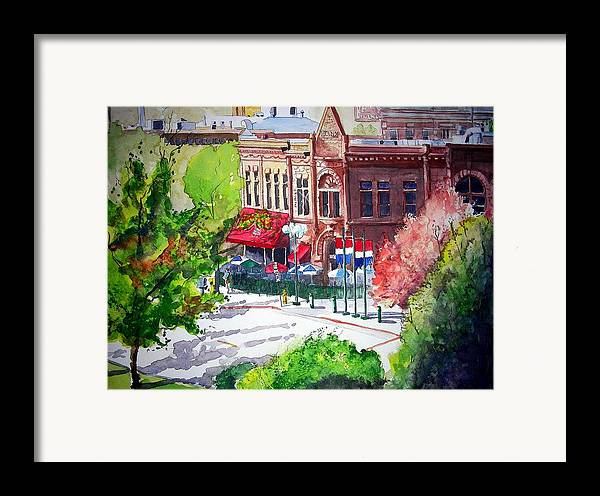Watercolor Framed Print featuring the painting Beau Jo's by Tom Riggs