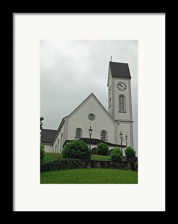 Church Framed Print featuring the photograph Beautiful Church In The Swiss City Of Lucerne by Ashish Agarwal