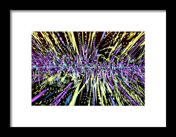 Abstract Framed Print featuring the photograph Beautiful Noise by Tashia Peterman