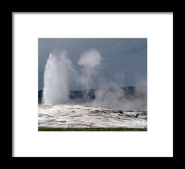 Old Faithful Framed Print featuring the photograph Beautiful Old Faithful by Living Color Photography Lorraine Lynch