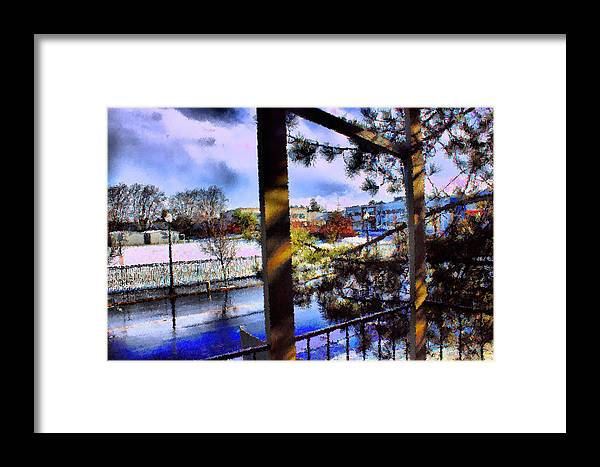 Urban Impressionism 2011 Framed Print featuring the mixed media Beaverton H.s. Winter 2011 by Terence Morrissey