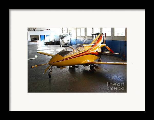 Airplane Framed Print featuring the photograph Bede 5 . Bd5-b . Kit Airplane Using Honda And Mazda Engines . 7d11166 by Wingsdomain Art and Photography