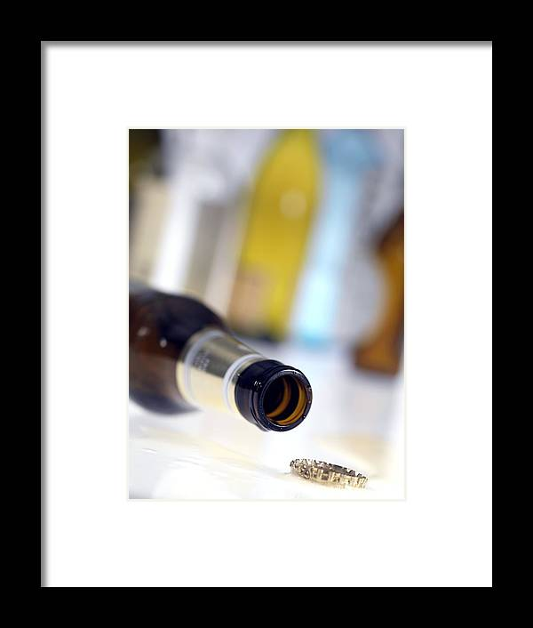 Alcohol Framed Print featuring the photograph Beer Bottle by Tek Image