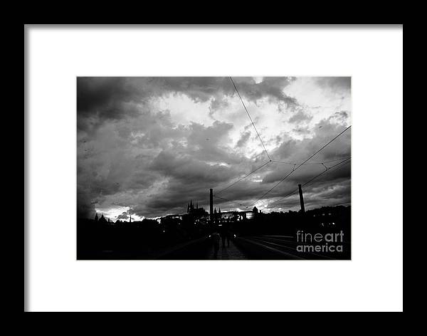 Rain Framed Print featuring the photograph Before Rain In Prague by Sum chi Ng
