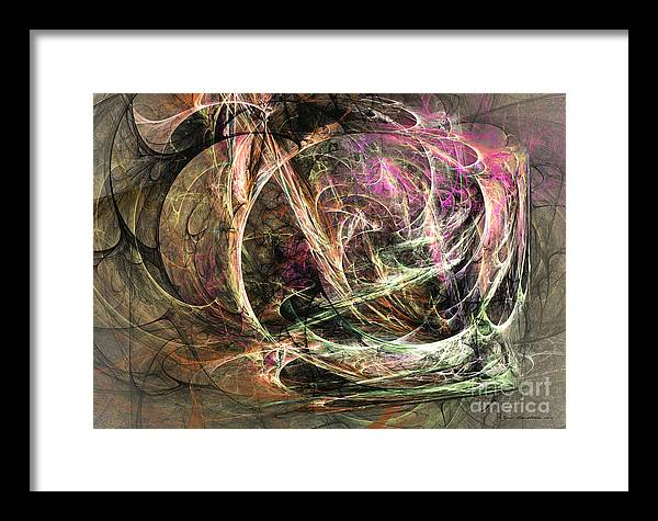Abstract Fine Art Framed Print featuring the mixed media Before The Seizure - Abstract Art by Abstract art prints by Sipo