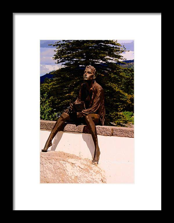 Beggar Girl Framed Print featuring the photograph Beggar Gil In Monchique by Rianna Stackhouse