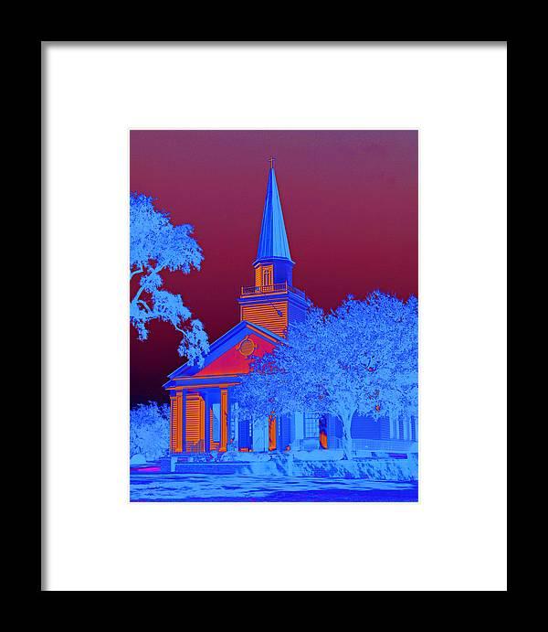 Belin Framed Print featuring the photograph Belin Memorial Umc Sabattier by Bill Barber