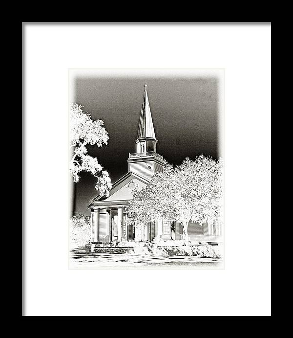 Belin Framed Print featuring the photograph Belin Umc Black And White Sabattier by Bill Barber