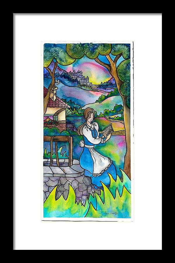 Belle Framed Print featuring the painting Belle by Cyrene Swallow