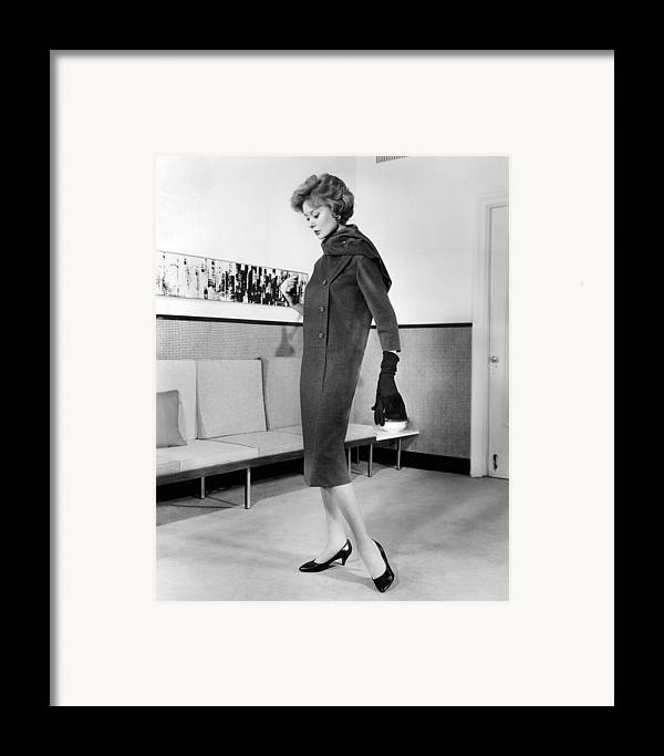 History Framed Print featuring the photograph Below-the-knee Trapezoid Dress by Everett