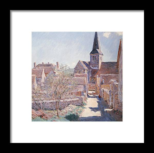 French Framed Print featuring the painting Bennecourt by Claude Monet