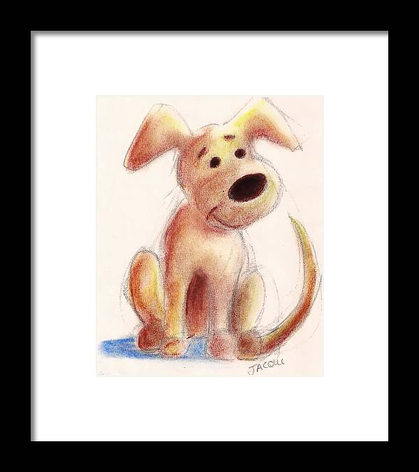 Pastel Framed Print featuring the painting Benny by Jacqui Mckinnon