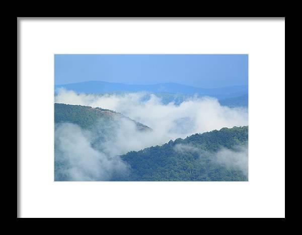 Fog Framed Print featuring the photograph Berkshire Mist Deerfield River Valley by John Burk