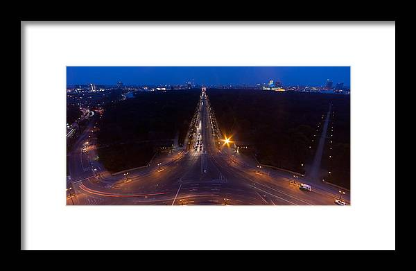 Berlin Framed Print featuring the photograph Berlin From The Siegessaule by Mike Reid