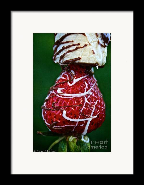 Food Framed Print featuring the photograph Berry Banana Kabob by Susan Herber