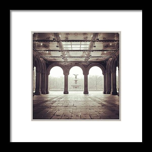 Europe Framed Print featuring the photograph Bethesda Terrace by Randy Lemoine