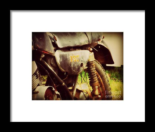 Motorcycle Framed Print featuring the photograph Better Days by Christy Beal