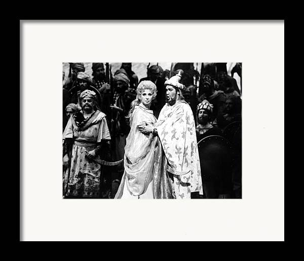 1970s Framed Print featuring the photograph Beverly Sills, Justino Diaz Performing by Everett