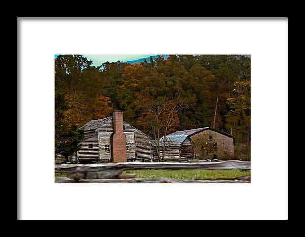 Settlement Framed Print featuring the photograph Beyond The Fence by DigiArt Diaries by Vicky B Fuller