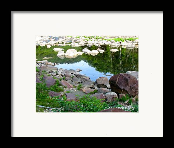 Reflection Framed Print featuring the photograph Beyond The Potholes by Randi Shenkman
