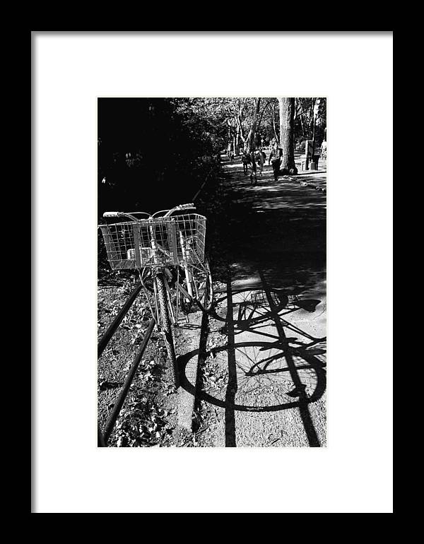 Bike Framed Print featuring the photograph Bicycle Shadow 2 by Madeline Ellis