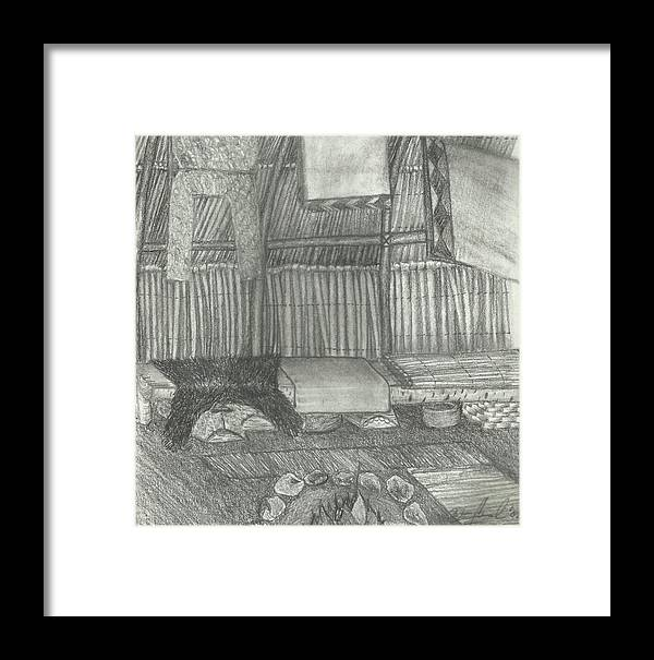 Drawing Framed Print featuring the drawing Bidek by Candi Wesaw