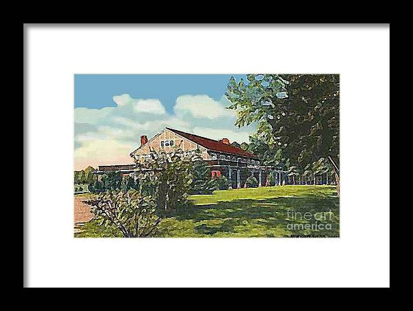 Country Clubs Framed Print featuring the painting Bienvenue Country Club In Rocky Mount N C by Dwight Goss