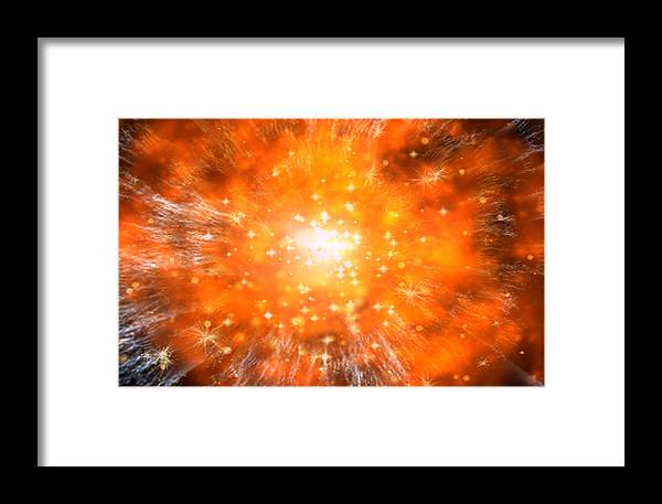 Computer Artwork Framed Print featuring the photograph Big Bang by Take 27 Ltd