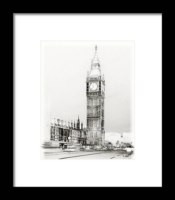 Landscape Framed Print featuring the photograph Big Ben by Nian Chen