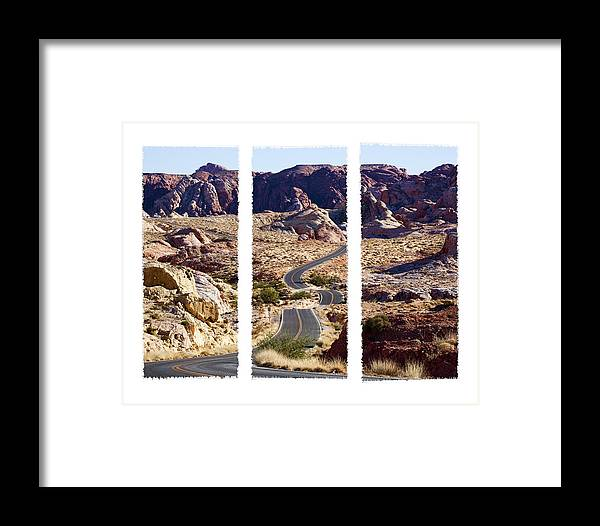 Valley Road Framed Print featuring the photograph Big Dip by Kelley King