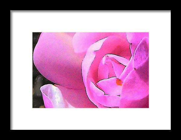 Jane Magnolia Framed Print featuring the digital art Big Little Jane by Wide Awake Arts