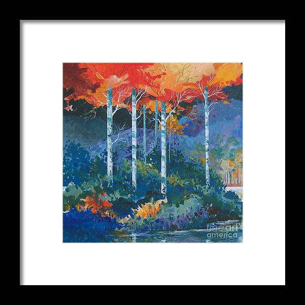 Colorado Framed Print featuring the painting Big Meadows Lake by Micheal Jones