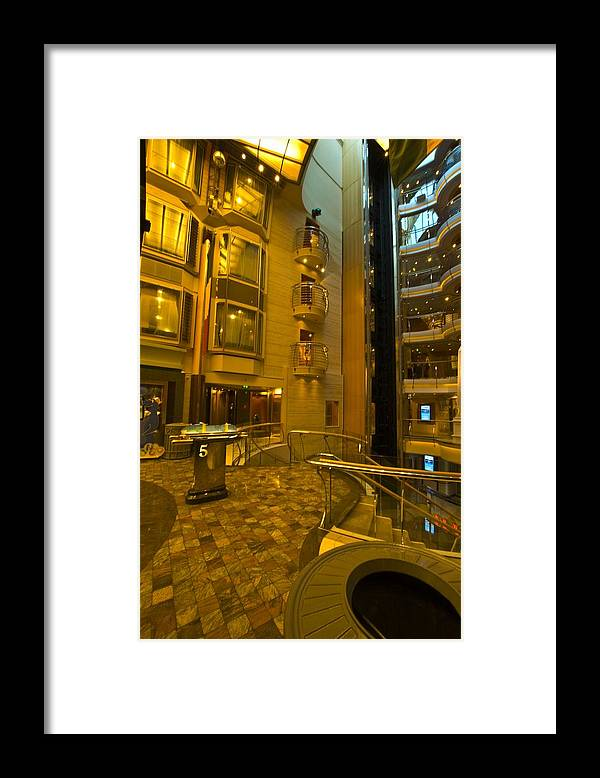 Liberty Of The Seas Framed Print featuring the photograph Big Ship Cityscape by Richard Henne