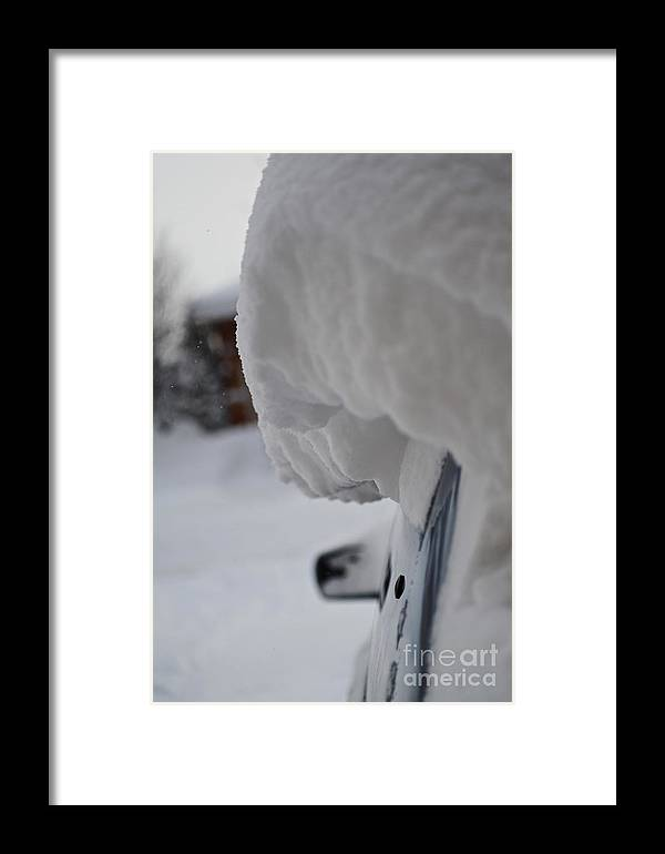 Snow Framed Print featuring the photograph Big Snowfall by Elaine Mikkelstrup