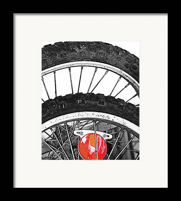 Elm Framed Print featuring the photograph Big Wheels Keep On Turning by Empty Wall