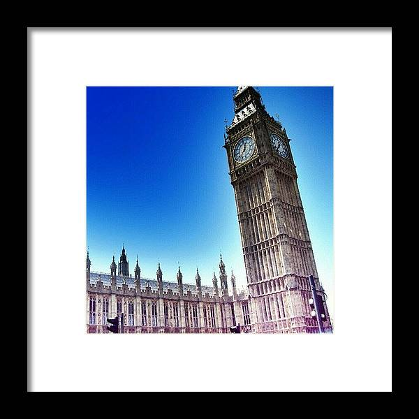 England Framed Print featuring the photograph #bigben #uk #england #london2012 by Abdelrahman Alawwad