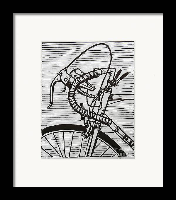 Bike Framed Print featuring the drawing Bike 2 by William Cauthern