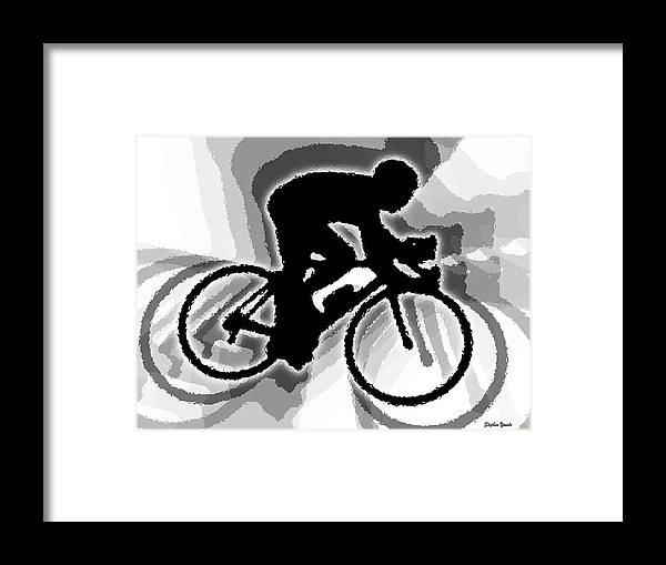 Bike Framed Print featuring the digital art Bike by Stephen Younts
