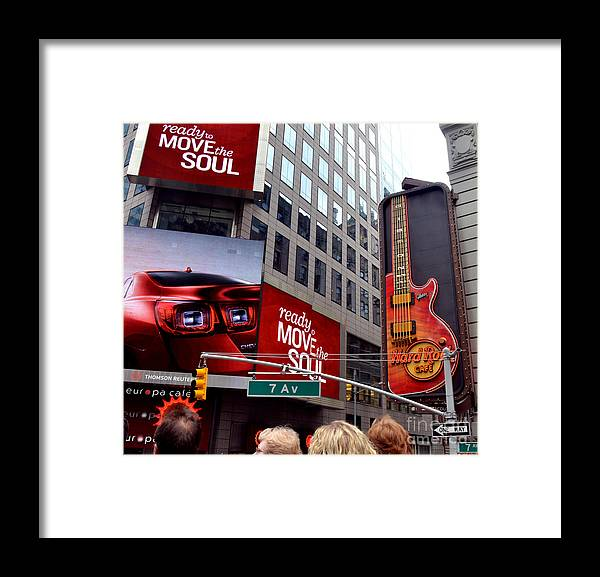 New York Framed Print featuring the photograph Billboards by Pravine Chester