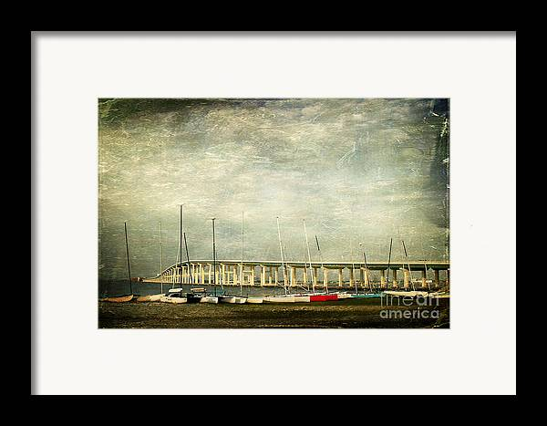 Biloxi Ocean Springs Bridge Framed Print featuring the photograph Biloxi Bay Bridge by Joan McCool