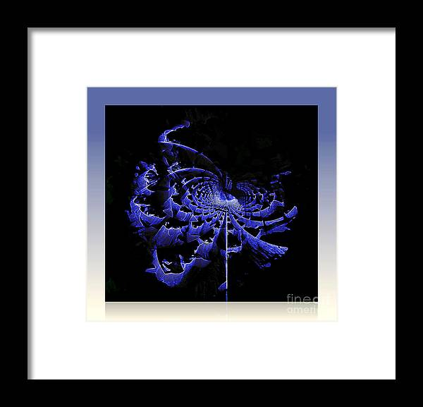 Abstract Framed Print featuring the digital art Birth Of Galaxy by Irina Hays