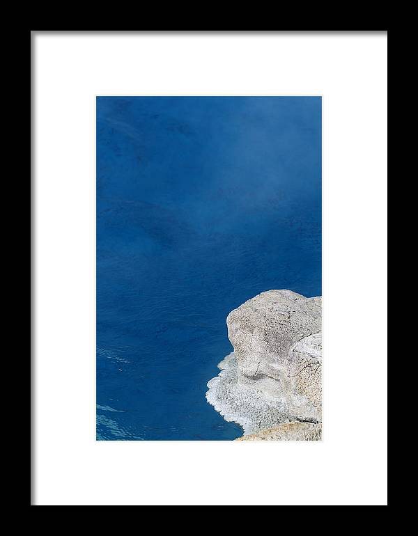 Yellowstone Framed Print featuring the photograph Biscuit Basin Blues by Kurt Holtzen
