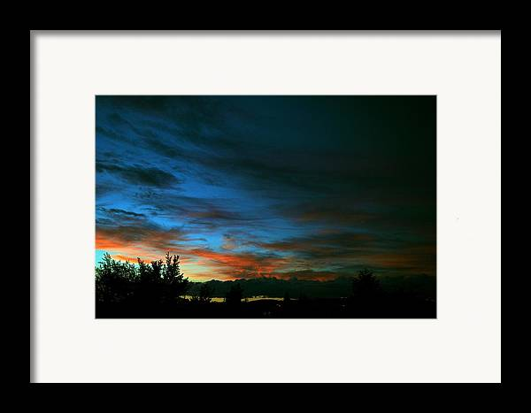 Sunset Framed Print featuring the photograph Black And Blue by Kevin Bone