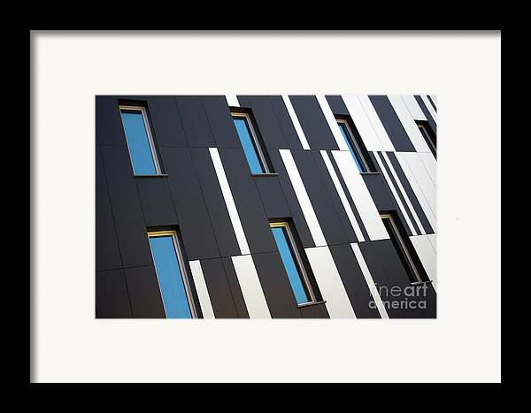Abstract Framed Print featuring the photograph Black And White by Carlos Caetano
